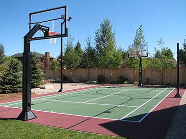 Baseball Court installation