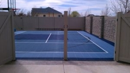 Parking Lot Basketball Court Conversion