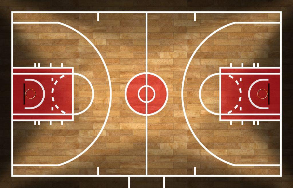Professional Basketball Court