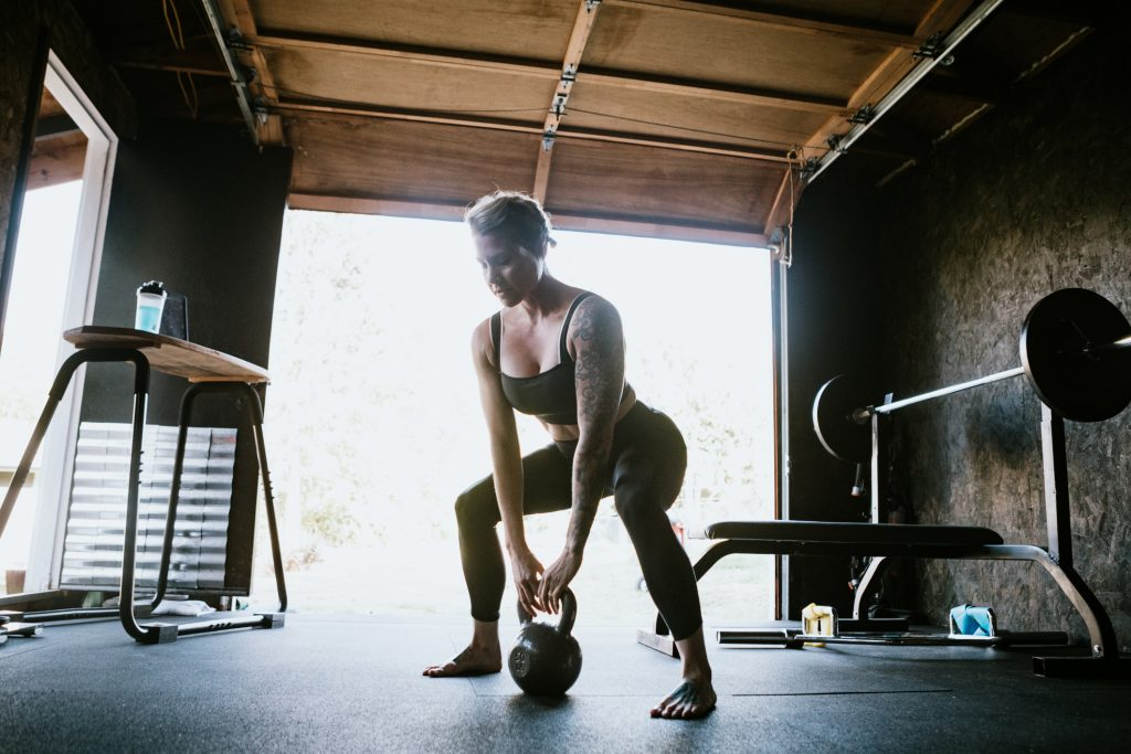 Workout in a Home Gym
