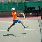 Tennis on a tennis court